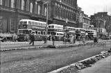Buses in Princes Street  -  June 1956