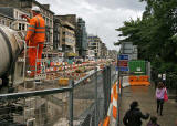 Road Works  -  Looking along Princes Street from the West End - 2009