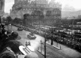 Tanks in Princes Street commemorate the ending of the Great War