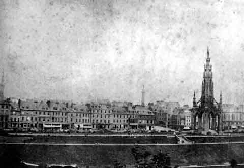 Princes Street  -  Looking North from The Mound  -  c.1865