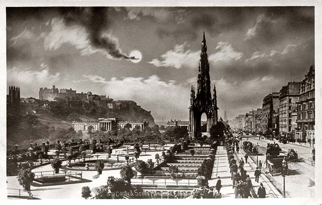 Princes Street, looking West  -  post card  -  Alex Anderson