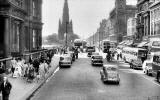 Looking west along Princes Street from the East End  -  1959