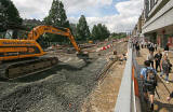 Road Works  -  Looking along Princes Street to the east from near Hanover Street - 2009