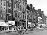 Princes Street Lamp Posts in late-1950s  -  Mackie's Shortbread and other shops