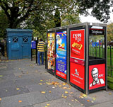 Police Box in the SW corner of East Princes Street Gardens  -  October 2010