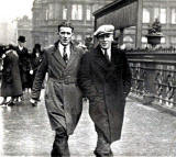 Walking Photograph taken at Princes Street, near Waverley Steps  -  William Gibson and Richard Craik