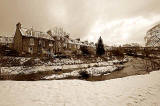 Looking SE across the Water of Leith to Stockbridge Colonies, Reid Terrace from Arboretum Acenue  -  December 2009