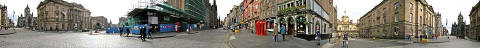 The Royal Mile  -  360 degree panoramic view from the junction with Bank Street and George IV Bridge