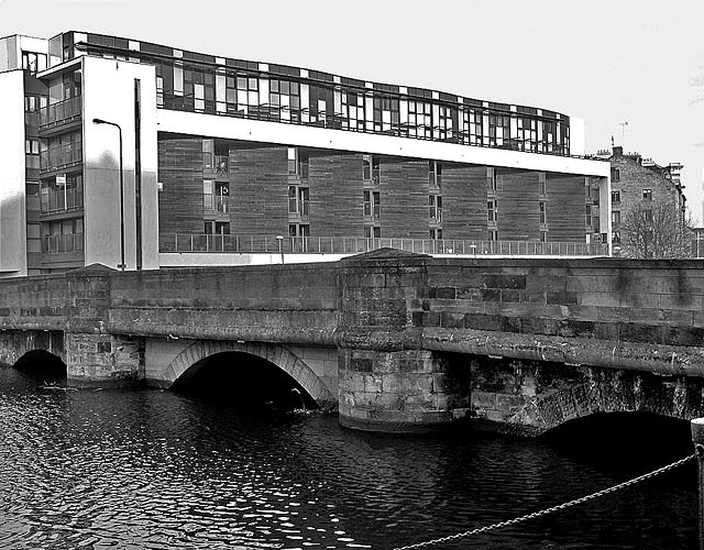 Looking NW across the bridge at Sandport Place towards Ronadson's Wharf  -  2011