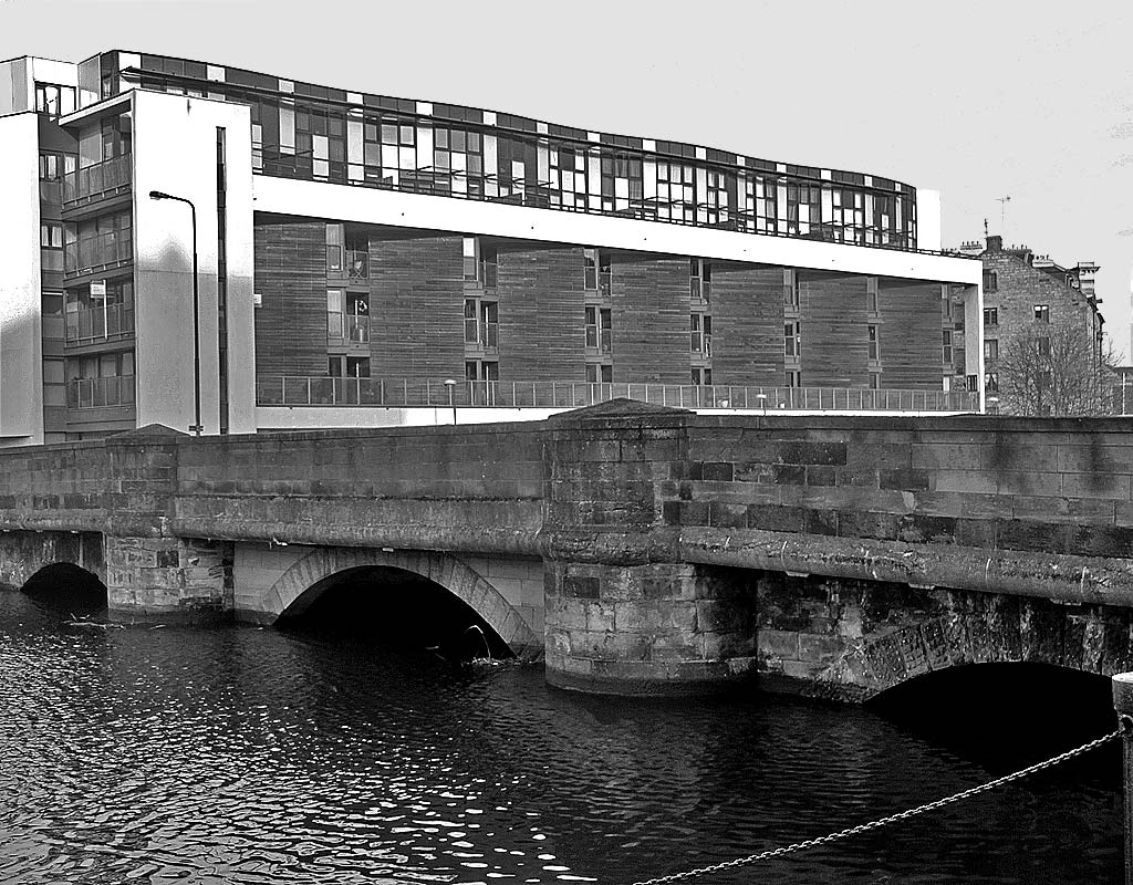 Looking N across the bridge at Sandport Place towards Ronadson's Wharf  -  2011