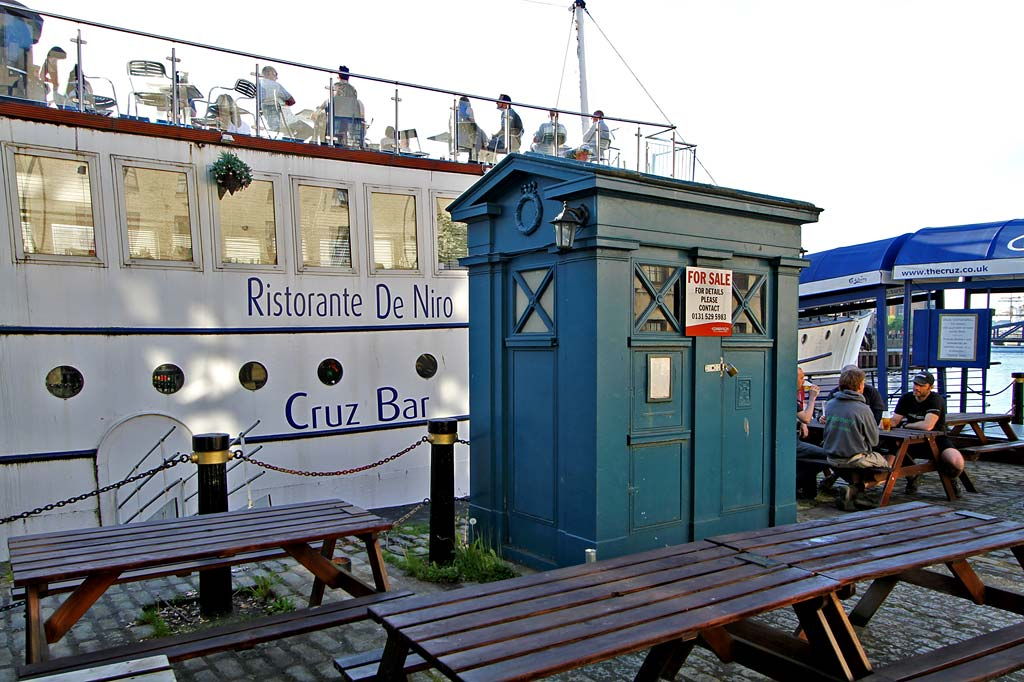 The Shore - Police Box beside Cruz Restaurant  -  Police Box for sale, May 2012
