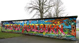 Mural on the back of The Armoury, Roseburn Park  -  February 2012