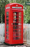 An example of a K6 telephone kiosk  -  photo from the Colne Valley Postal History Museum web site