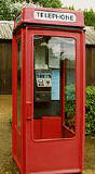 An example of a k8 telephone kiosk  -  photo from the Colne Valley Postal History Museum web site