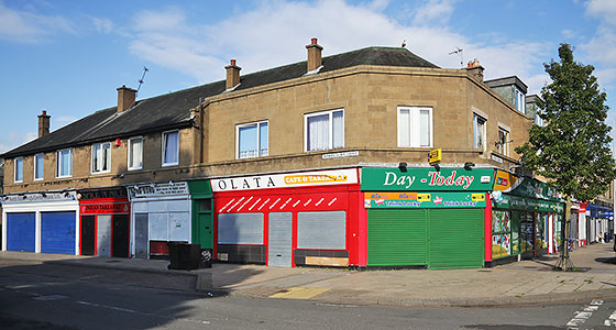 Shops on the corner of Wardieburn Drive and Boswall Parkway