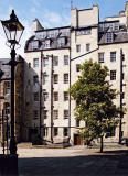 Wardrop's Court  -  to the north of the Lawnmarket, near the top of the Royal Mile