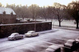 The junction of Warrender Park Road and Whitehouse Loan, in the snow  -  around the 1960s