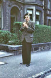 John Codona, one man band, in Warrender Park Road  -  early 1960s