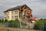 Demolition of houses in West Pilton Road