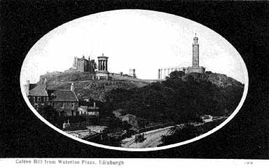 Post Card   -  Calton Hill  c.1900  -  George Washington Wilson