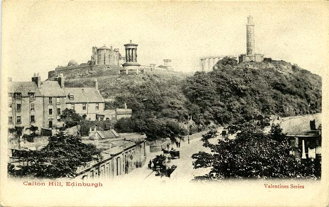Valentine Postcard 2 -  Waterloo Place and Calton Hil