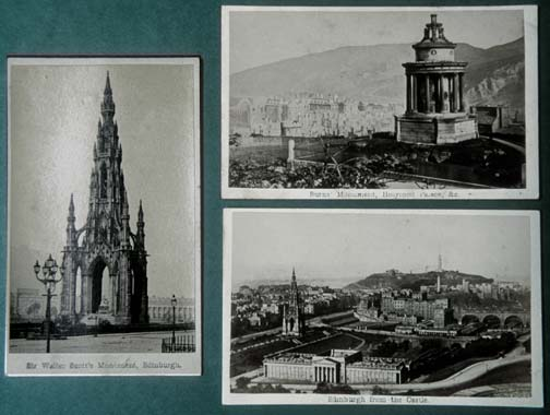 Cartes de Visite  -  Edinburgh scenes  -  Archibald Burns
