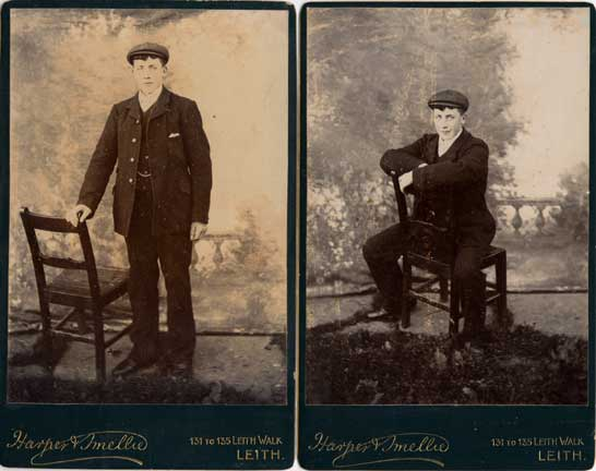 Cabinet Prints  -  man and chair  -  Photographer:  Harper & Smellie
