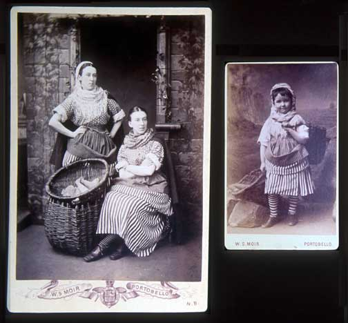 Cabinet Print and Carte de Visite  -   Newhaven Fishwives' costumes  -  Photographer:  WS Moir